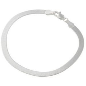 Silver Herringbone Bracelet 925 Silver 3.6g