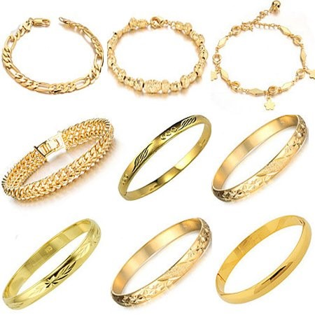 Gold Bracelet 14K Tri-color Gold 0.9dwt