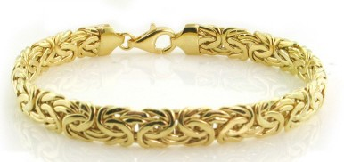 Gold Byzantine Bracelet 14K Yellow Gold 9.2g