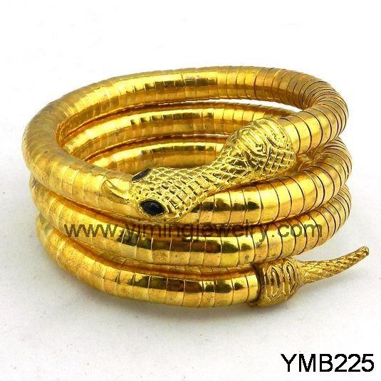 Gold Serpentine Bracelet Yellow Gold Filled 0.6dwt