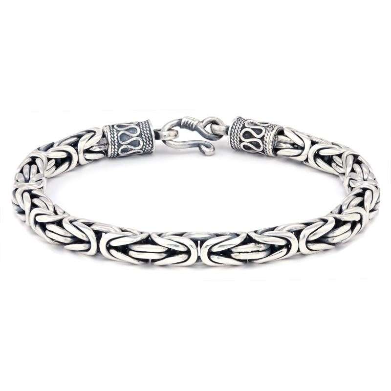 "WOVEN STERLING SILVER 8.5"" BANGLE"