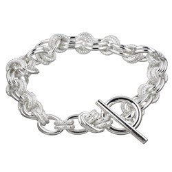 Silver Link Bracelet 925 Silver 6.6dwt