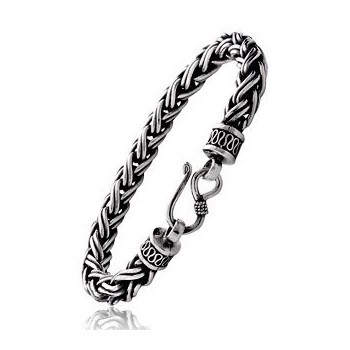 Silver Rope Bracelet 925 Silver 8.01g
