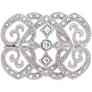 Gold-Diamond Brooch 50 Diamonds 1.50 Carat T.W. 14K Yellow Gold 2.3dwt