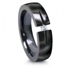 Gent's Ring Black Tungsten 14.7g