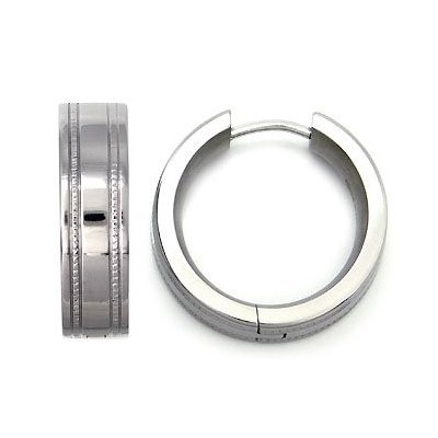 Earrings Silver Stainless 1g