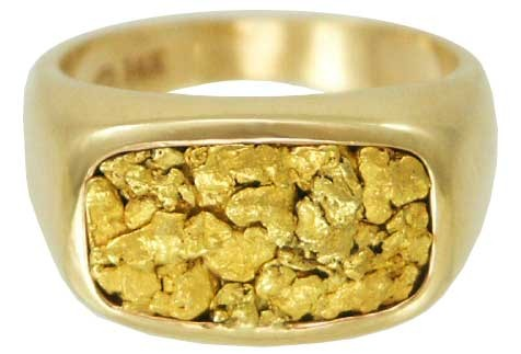 Gent's Gold Ring Yellow Gold Electroplate 81.4g Size:11.5