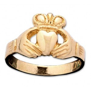 Child's Gold Ring 14K Yellow Gold 0.8dwt Tamaño:2.5