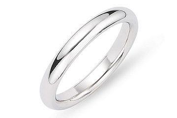 Gent's Platinum Wedding Band 950 Platinum 14.4g Size:9.8