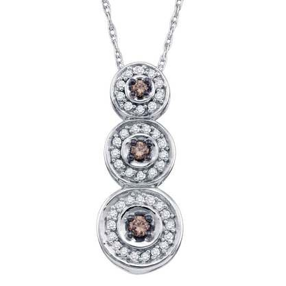 Red Stone Diamond & Stone Necklace .01 CT. 925 Silver 4.43g