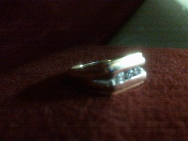 Gent's Diamond Fashion Ring 3 Diamonds .30 Carat T.W. 14K Yellow Gold 6dwt