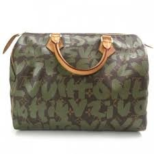 LOUIS VUITTON Sprouse Graffiti Speedy 30 Khak