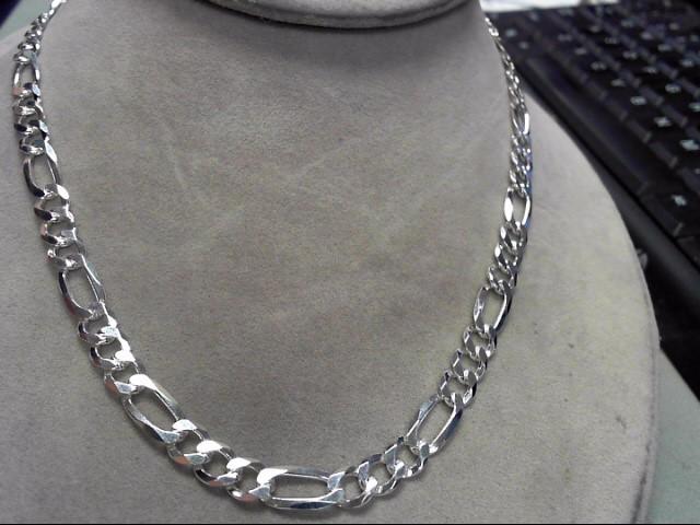 """18"""" Silver Figaro Chain 925 Silver 21.05g"""