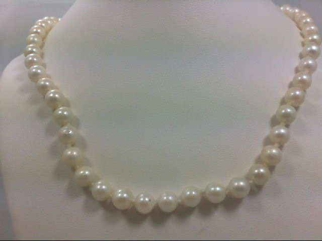 Pearl Stone Necklace 14K Yellow Gold 18.1g