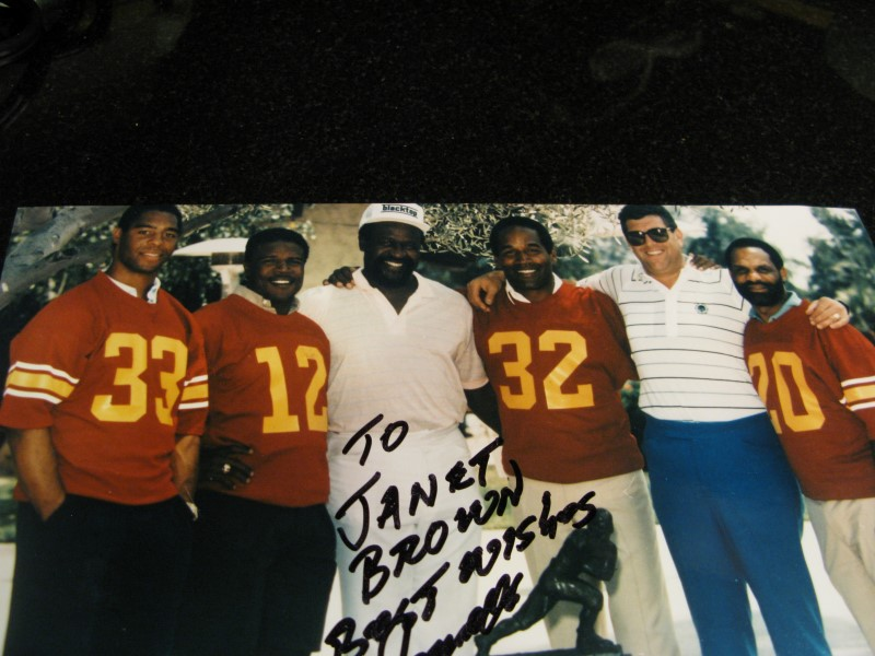 "Ricky Bell Golf Classic Photo with Heisman Trophy Winners - Autographed 8""x10"""