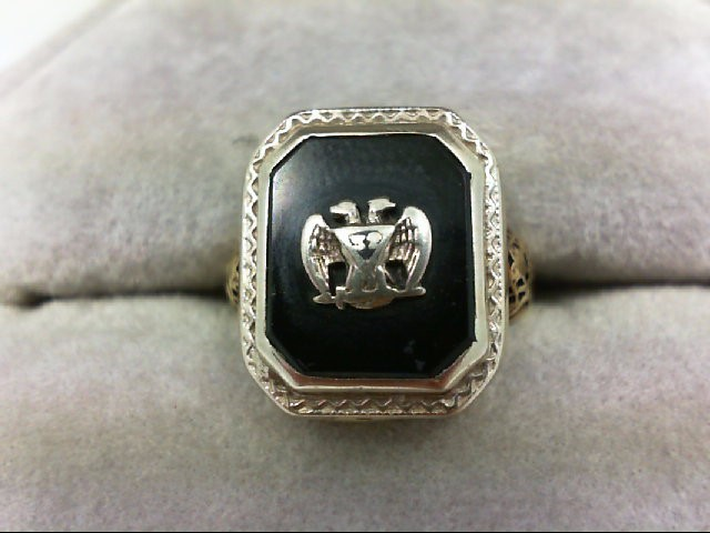 Lady's Gold Ring 14K 2 Tone Gold 2.5g Size:3