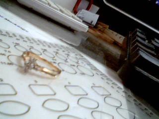 Lady's Diamond Engagement Ring 14 Diamonds .24 Carat T.W. 14K Yellow Gold 3.9g