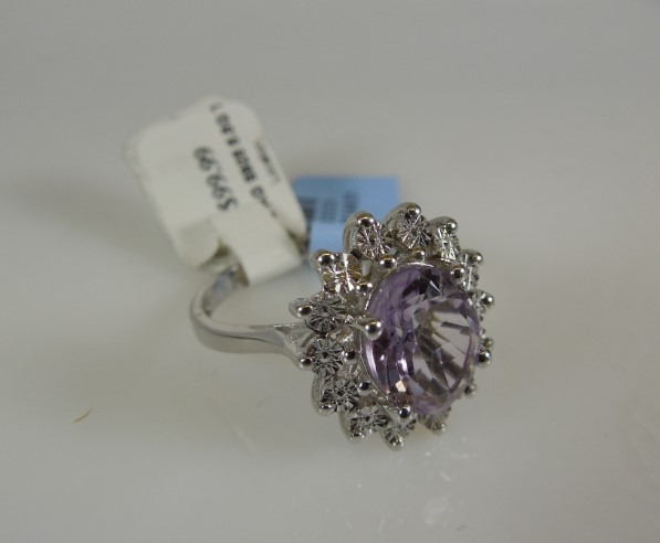 Lady's Silver Ring 925 Silver 5.5g Size:7