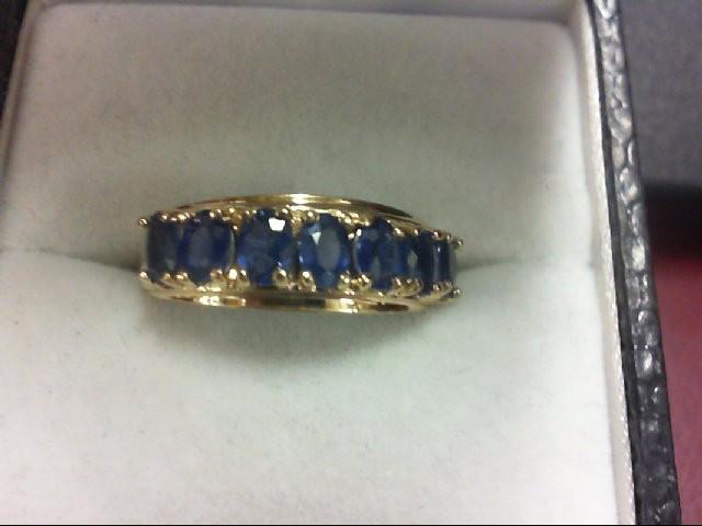 Tanzanite Lady's Stone Ring 10K Yellow Gold 2.2g
