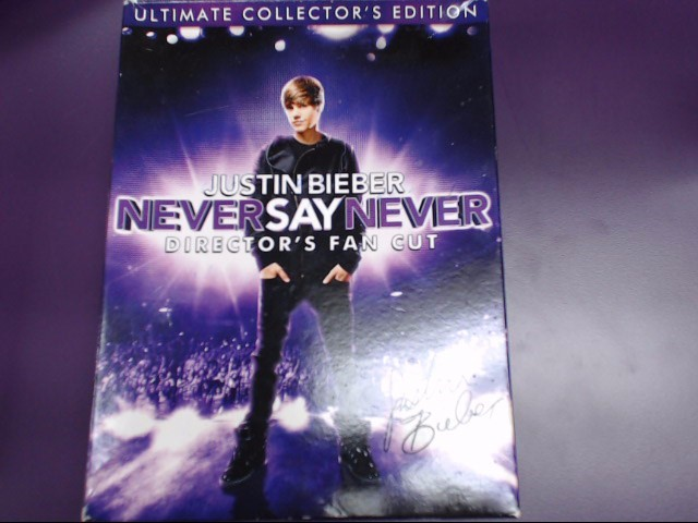 DVD MOVIE JUSTIN BEIBER: NEVER SAY NEVER DIRECTOR'S FAN CUT