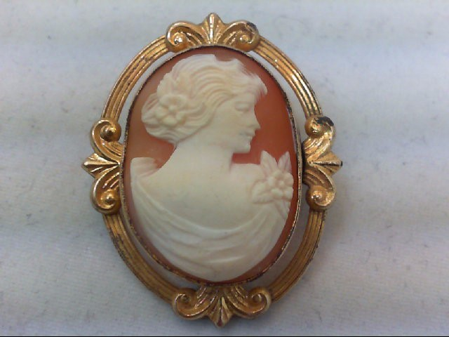 GOLD FILLED VINTAGE CAMEO 6.4 GMS
