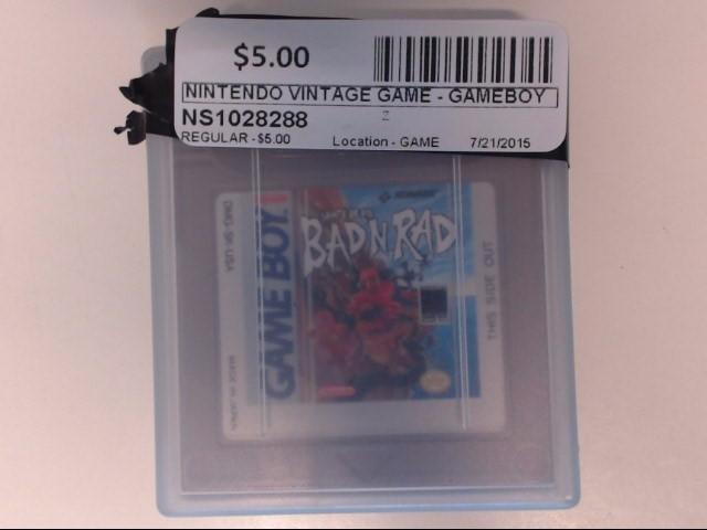 NINTENDO Vintage Game GAME - GAMEBOY