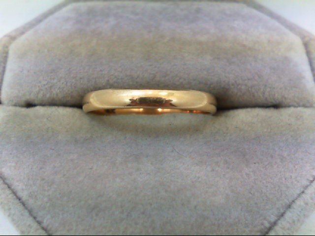 Lady's Gold Wedding Band 14K Yellow Gold 1.7g Size:9