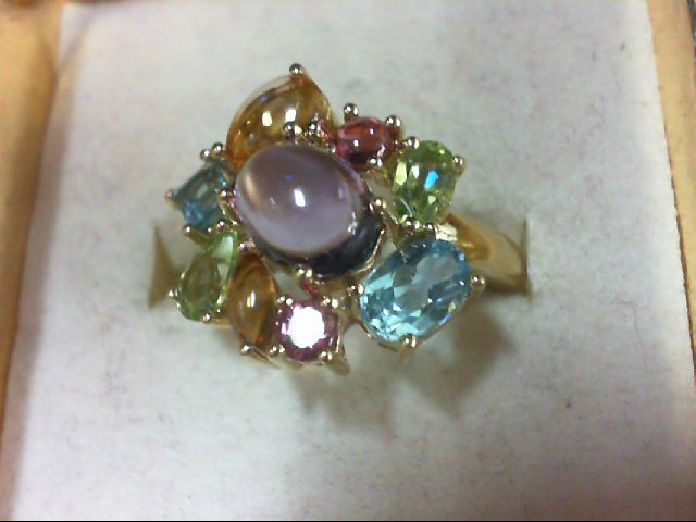 Amethyst Lady's Stone Ring 14K Yellow Gold 4.3g Size:7