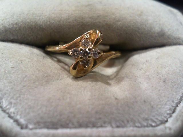 Lady's Diamond Cluster Ring 5 Diamonds .16 Carat T.W. 14K Yellow Gold 1.9g