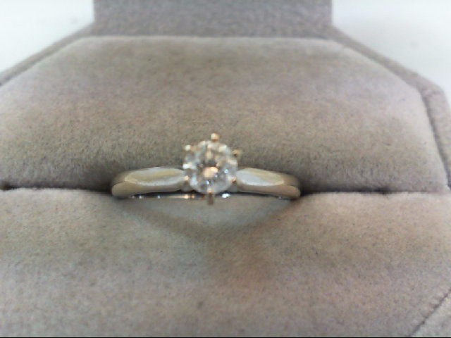 Lady's Diamond Solitaire Ring .30 CT. 14K White Gold 2.2g