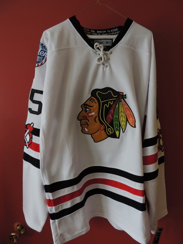 CHICAGO BLACKHAWKS WINTER CLASSIC XL JERSEY ANDREW SHAW AUTO JSA AUTHENTIC COA
