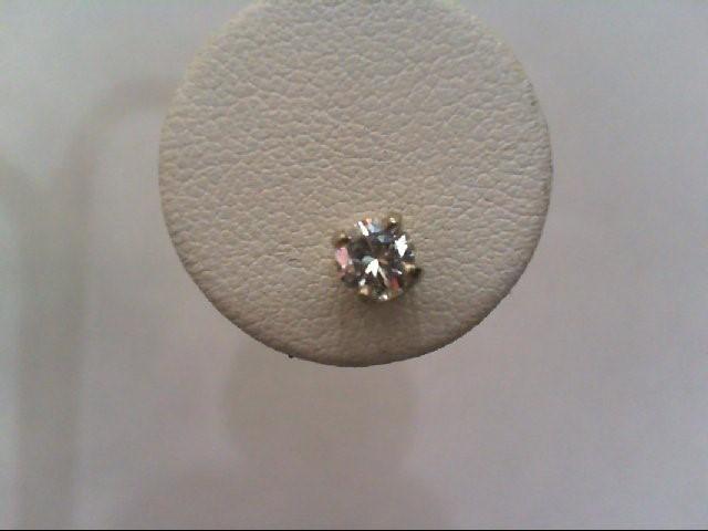 Gold-Diamond Earrings 2 Diamonds .60 Carat T.W. 14K White Gold 1.2g