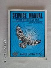 HARLEY DAVIDSON SERVICE MANUAL, 1986 TO 1990 XLH MODELS, OFFICIAL FACTORY MANUAL