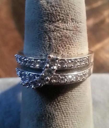 Lady's Diamond Fashion Ring 27 Diamonds .29 Carat T.W. 14K White Gold 4.1dwt