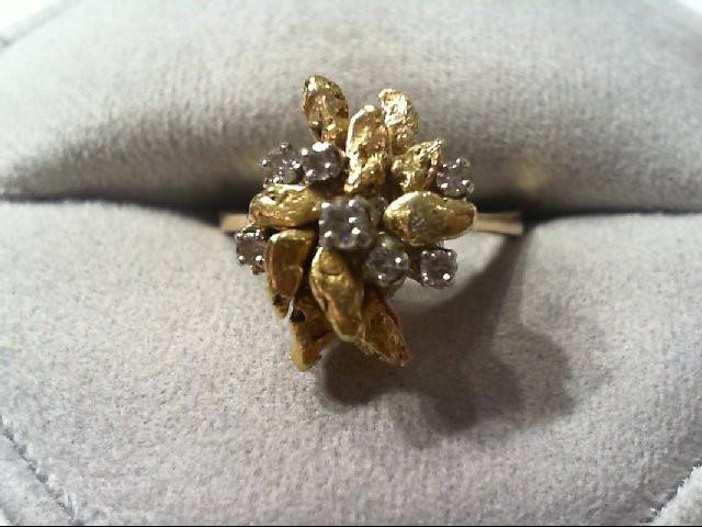 natural nugget/diamond fashion ring 5.7g