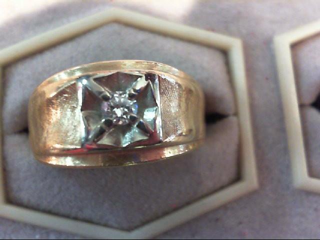 Gent's Diamond Fashion Ring .15 CT. 14K Yellow Gold 5.1g