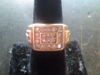 Gent's Diamond Cluster Ring 22 Diamonds 1.90 Carat T.W. 10K Yellow Gold 7.5dwt