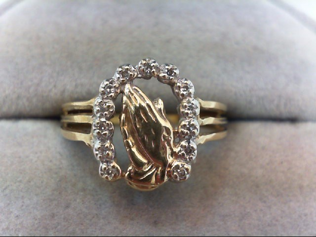 Lady's Gold Ring 10K Yellow Gold 3.2g