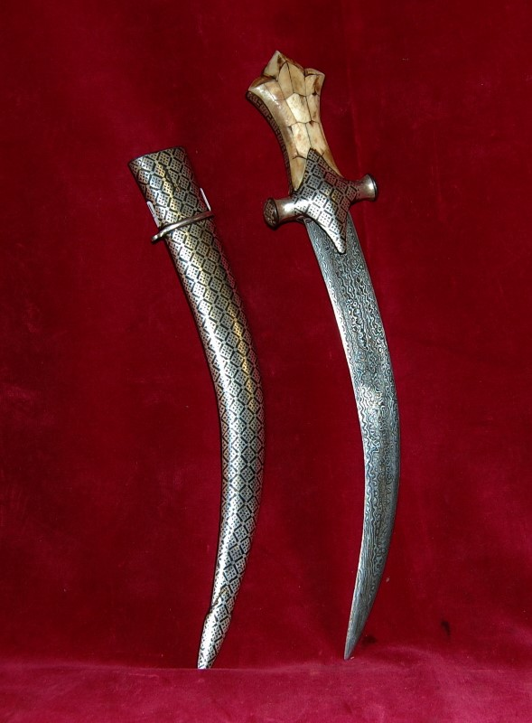ARABIC BONE HANDLE DAMASCUSS