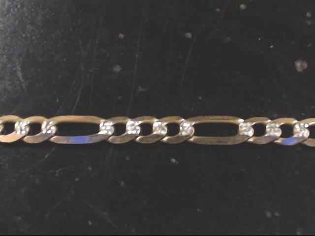 """22.5"""" Gold Figaro Chain 14K Yellow Gold 14.6g"""