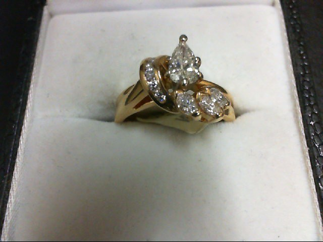 Lady's Diamond Wedding Set 10 Diamonds 0.75 Carat T.W. 14K Yellow Gold 3.9g