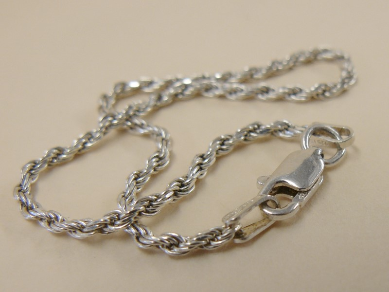 Silver Chain 925 Silver 1.55dwt, Twisted Bracelet