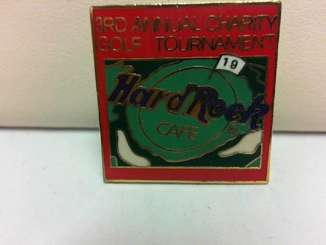 HARD ROCK CAFE Fashion Accessory 3RD ANNUAL CHARITY GOLF TOURNAMENT PIN