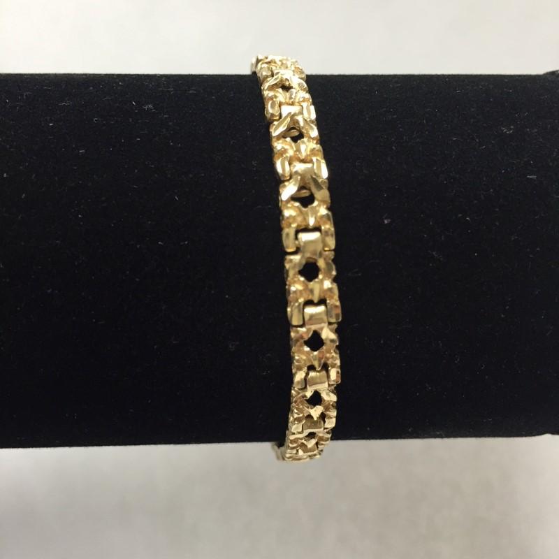 Gold Bracelet 14K Yellow Gold 8.1dwt