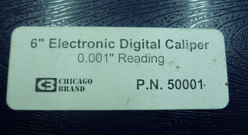 """CHICAGO 50001 6"""" ELECTRONIC DIGITAL CALIPER 0.001"""" READING WITH MANUAL AND CASE"""
