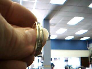 Gent's Gold-Diamond Wedding Band 9 Diamonds .27 Carat T.W. 14K White Gold 4.3g