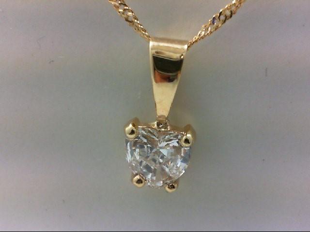 Gold-Diamond Solitaire Pendant 1.00 CT. 14K Yellow Gold 0.92g