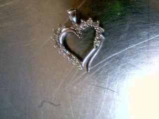 Gold-Multi-Diamond Pendant 16 Diamonds .32 Carat T.W. 10K White Gold 1.7g