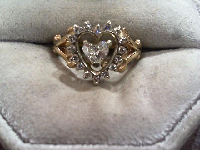 Lady's Diamond Fashion Ring 17 Diamonds .62 Carat T.W. 14K Yellow Gold 3.4g