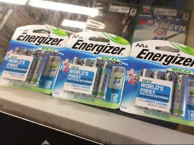 ENERGIZER ECO ADVANCED AA BATTERIES 4 PACK